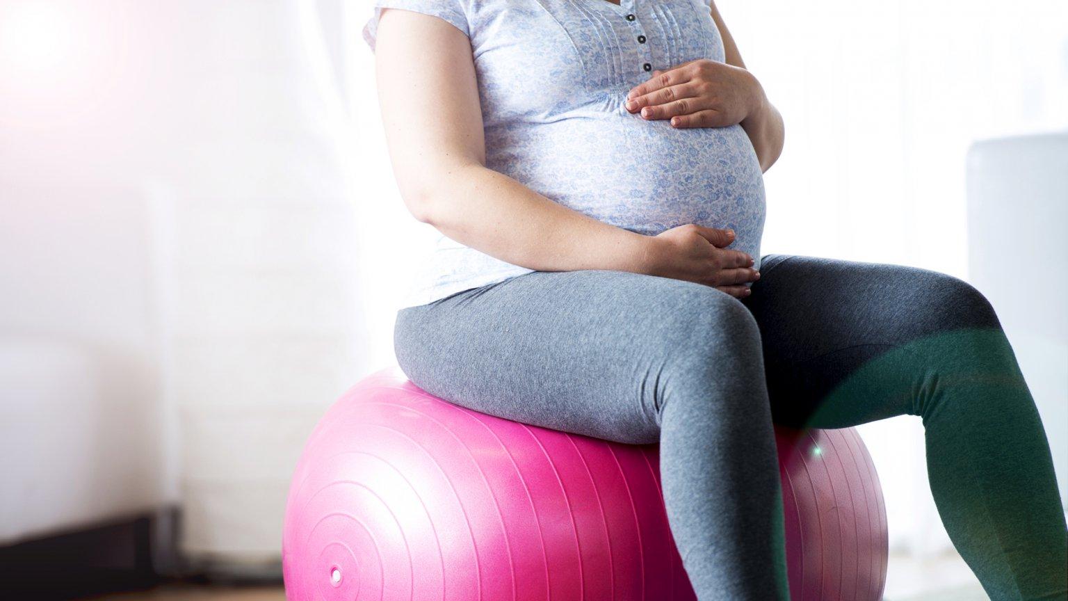 Фитбол и беременная